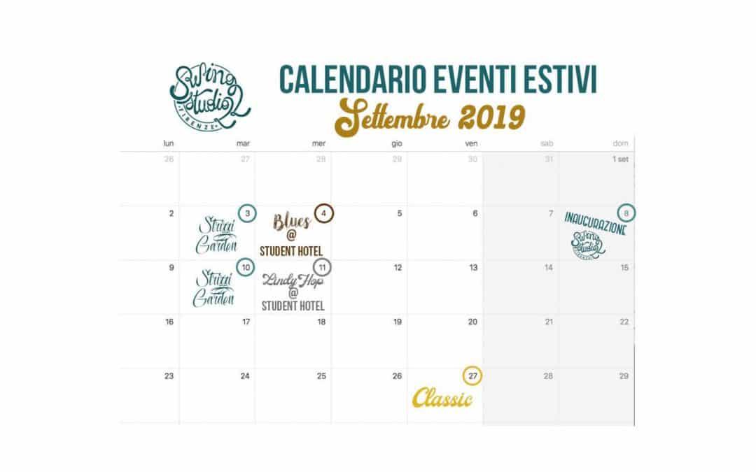 ECCO IL CALENDARIO EVENTI DI SETTEMBRE!